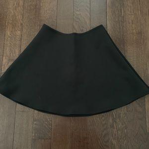 AMERICAN APPAREL black neoprene skater skirt, sz M